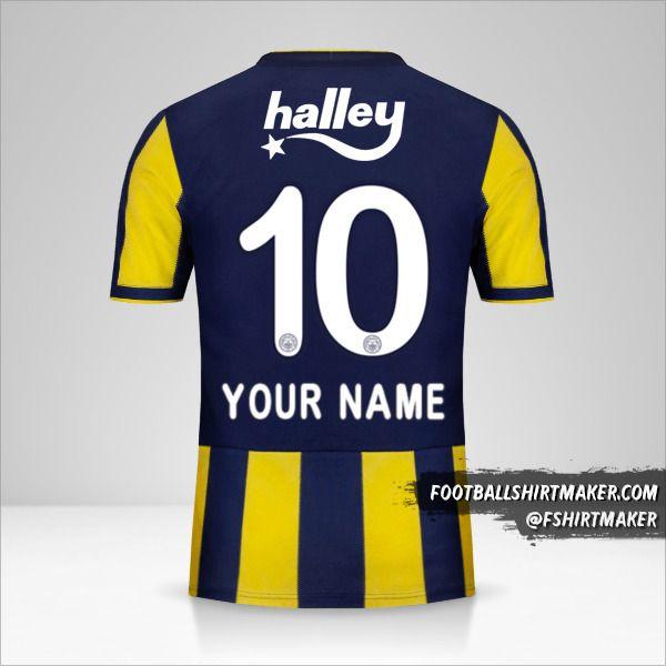 Fenerbahçe SK 2018/19 jersey number 10 your name