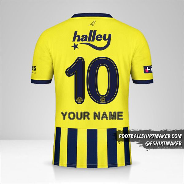 Fenerbahçe SK 2020/21 jersey number 10 your name