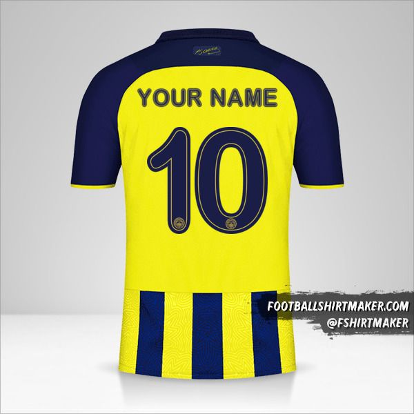 Fenerbahçe SK 2021/2022 Cup jersey number 10 your name