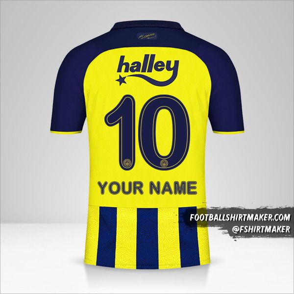 Fenerbahçe SK 2021/2022 jersey number 10 your name