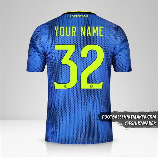 Feyenoord Rotterdam 2019/20 II jersey number 32 your name