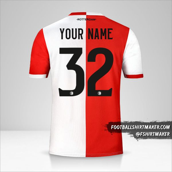 Feyenoord Rotterdam 2019/20 jersey number 32 your name
