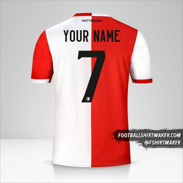 Feyenoord Rotterdam jersey 2019/20 number 7 your name