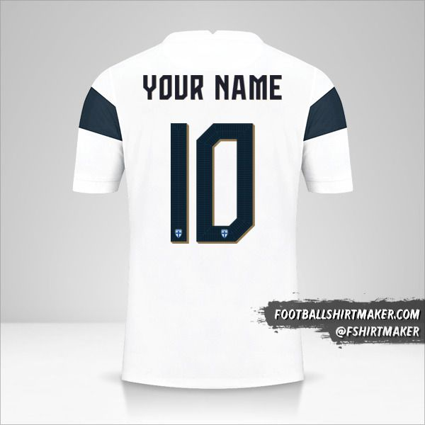 Finland 2020/2021 jersey number 10 your name