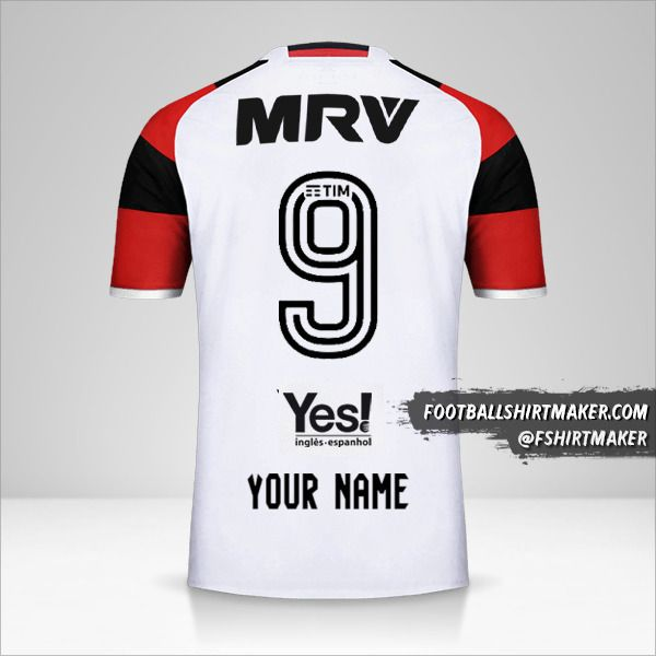 Flamengo 2016/17 II jersey number 9 your name