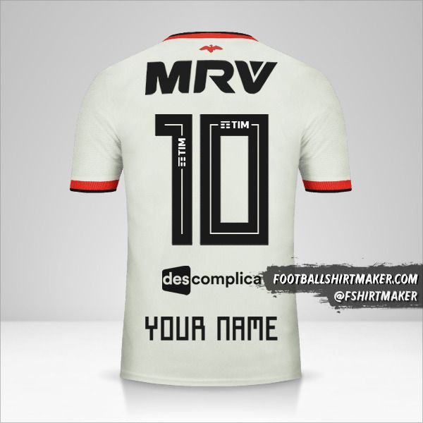 Flamengo 2018/19 II jersey number 10 your name