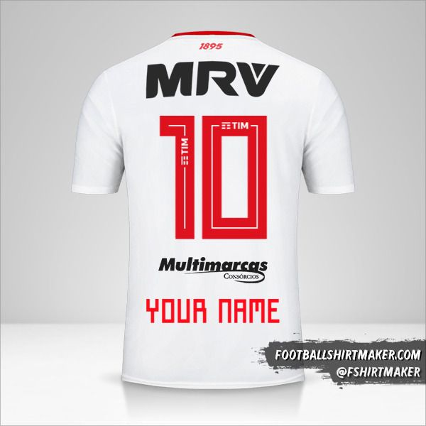 Flamengo 2019 II jersey number 10 your name