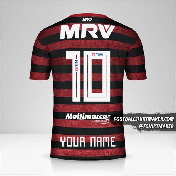 Flamengo 2019 jersey number 10 your name