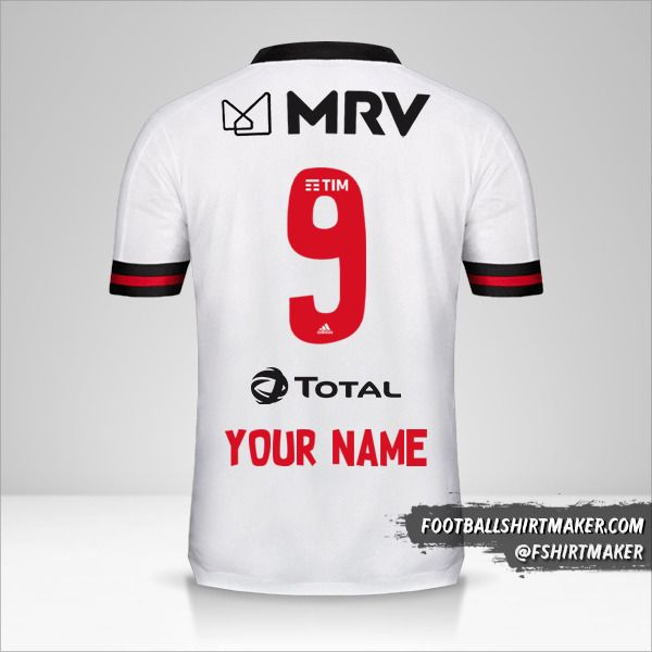 Flamengo 2020 II jersey number 9 your name