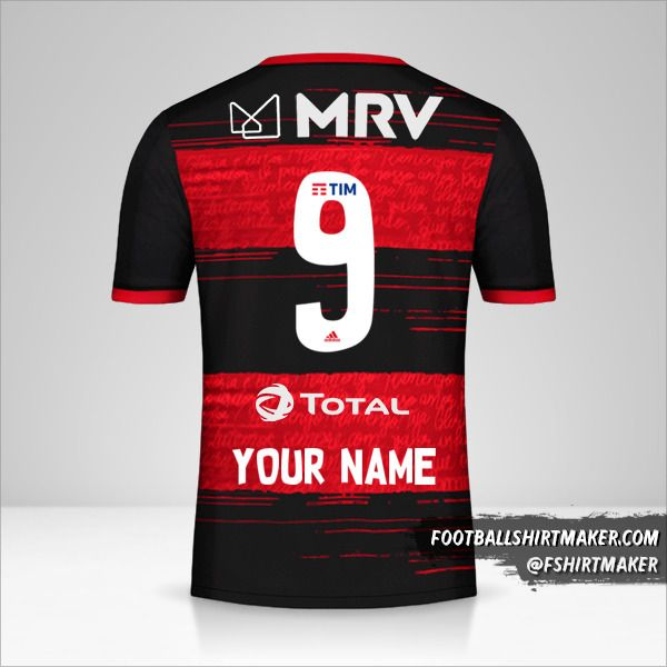 Flamengo 2020 jersey number 9 your name