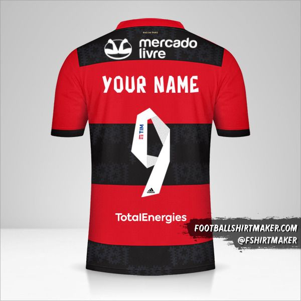 Flamengo 2021 jersey number 9 your name