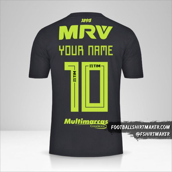 Flamengo Libertadores 2019 III jersey number 10 your name