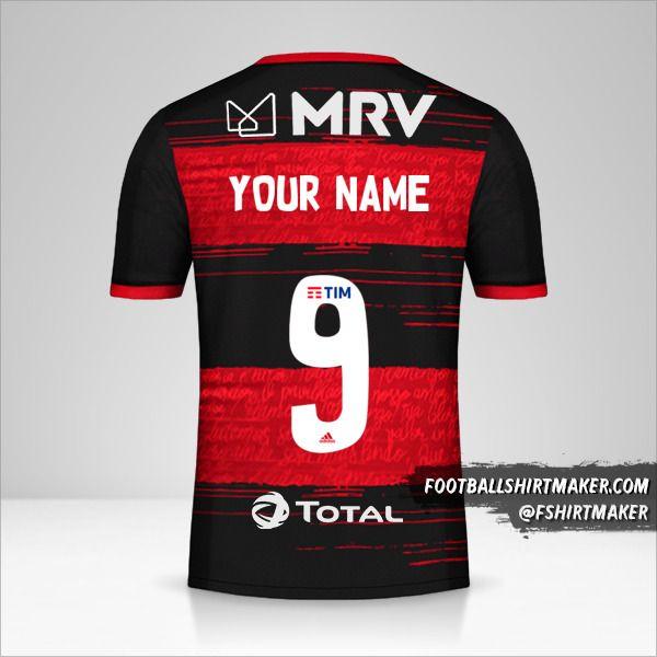Flamengo Libertadores 2020 jersey number 9 your name