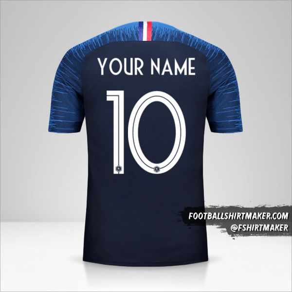 France 2018 jersey number 10 your name