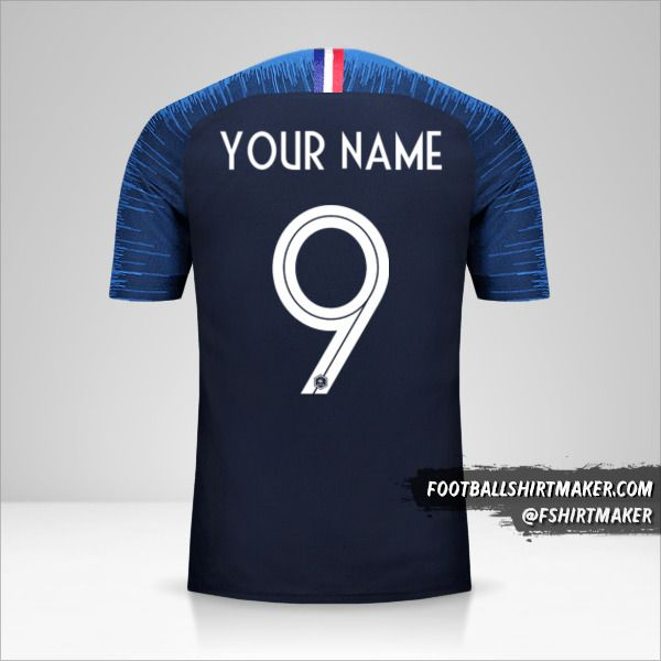 France jersey 2018 number 9 your name