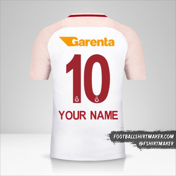 Galatasaray SK 2017/18 II jersey number 10 your name