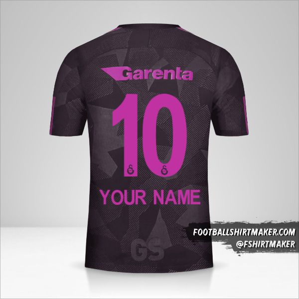 Galatasaray SK 2017/18 III jersey number 10 your name