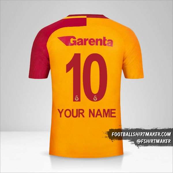 Galatasaray SK 2017/18 jersey number 10 your name