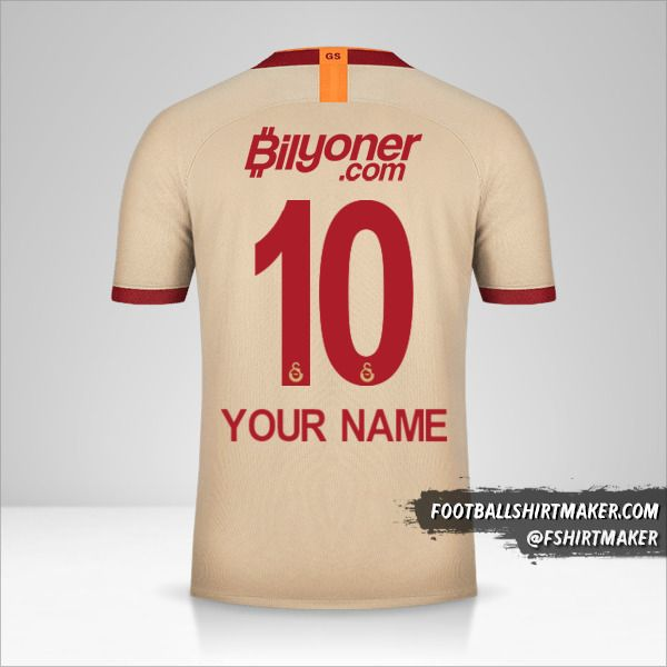 Galatasaray SK 2019/20 II jersey number 10 your name