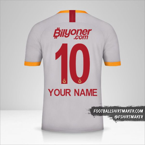 Galatasaray SK 2019/20 III jersey number 10 your name