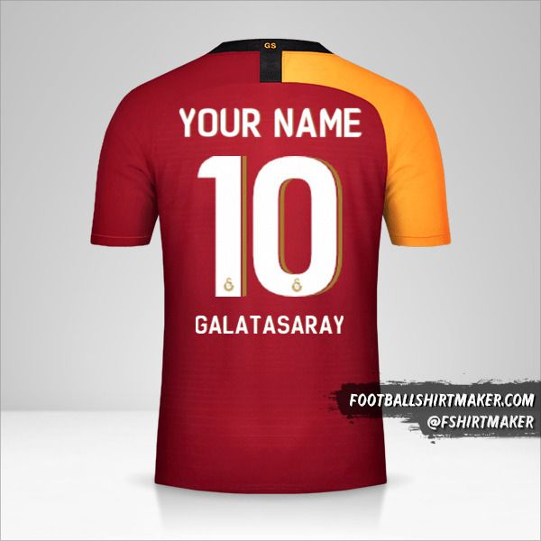 Galatasaray SK 2019/20 Cup jersey number 10 your name