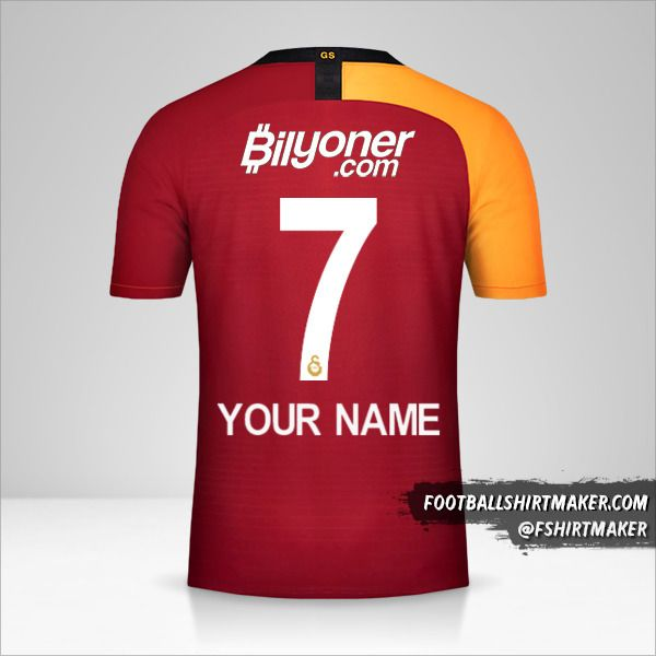 Galatasaray SK jersey 2019/20 number 7 your name