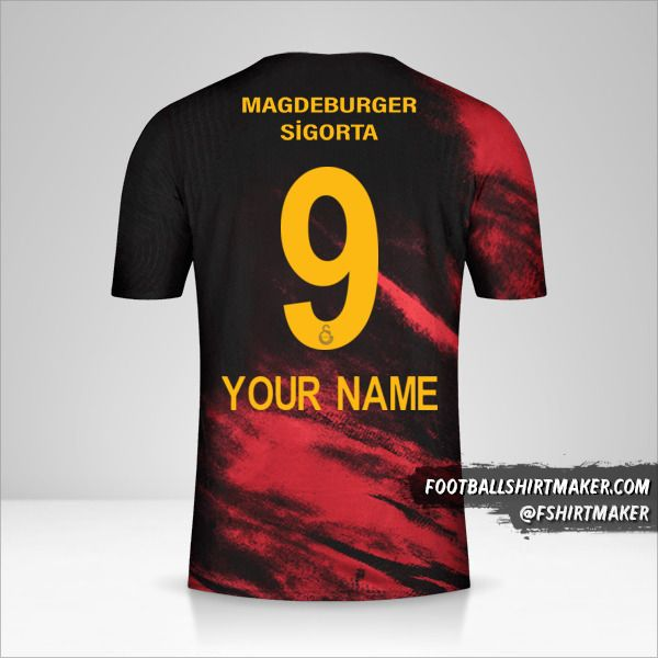 Galatasaray SK 2020/21 II jersey number 9 your name