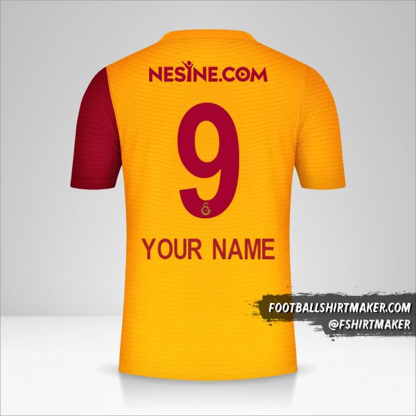 Galatasaray SK 2021/2022 jersey number 9 your name