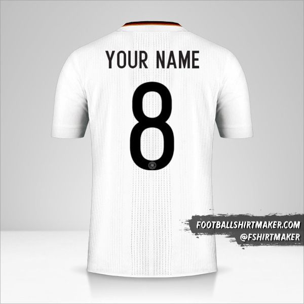 Germany 2017 jersey number 8 your name