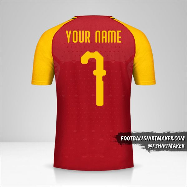 Ghana jersey 2018/19 number 7 your name