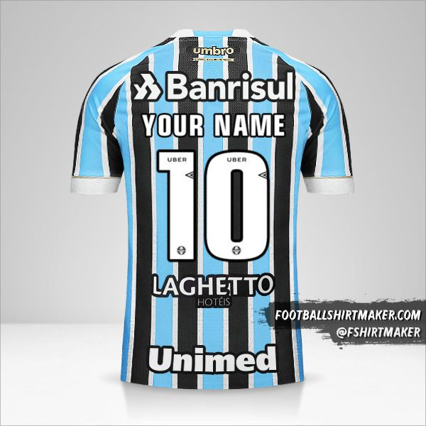 Gremio 2018 jersey number 10 your name