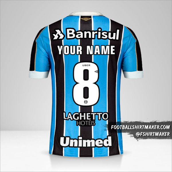 Gremio jersey 2019 number 8 your name