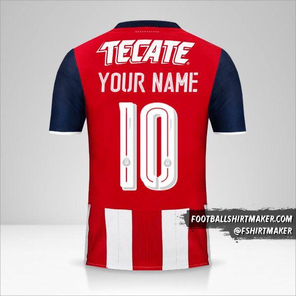 Guadalajara 2016/17 jersey number 10 your name