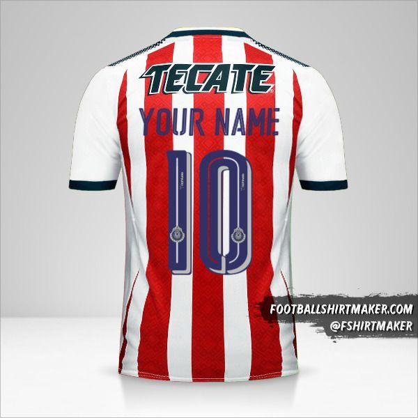 Guadalajara 2017/18 jersey number 10 your name
