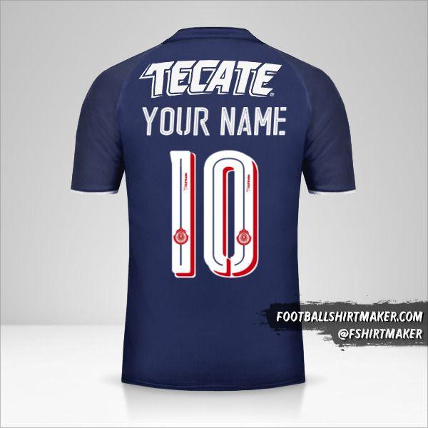 Guadalajara 2017 III jersey number 10 your name