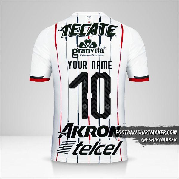 Guadalajara 2018/19 II jersey number 10 your name