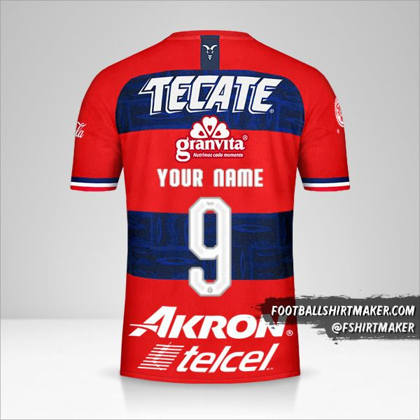 Guadalajara 2019/20 II jersey number 9 your name