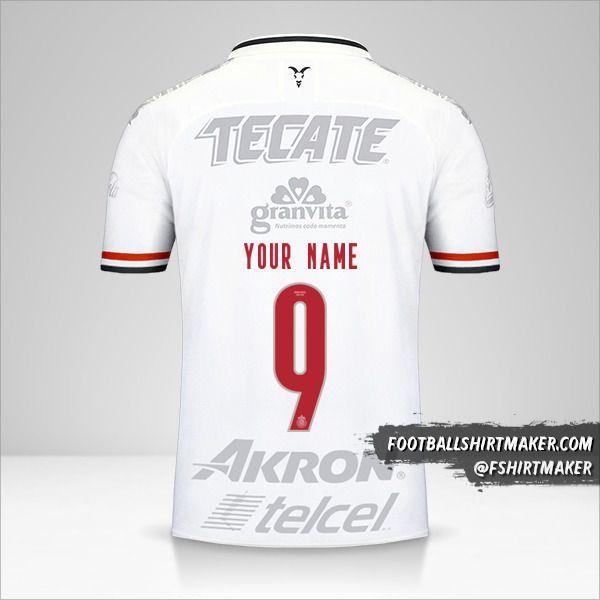 Guadalajara 2019/20 III jersey number 9 your name
