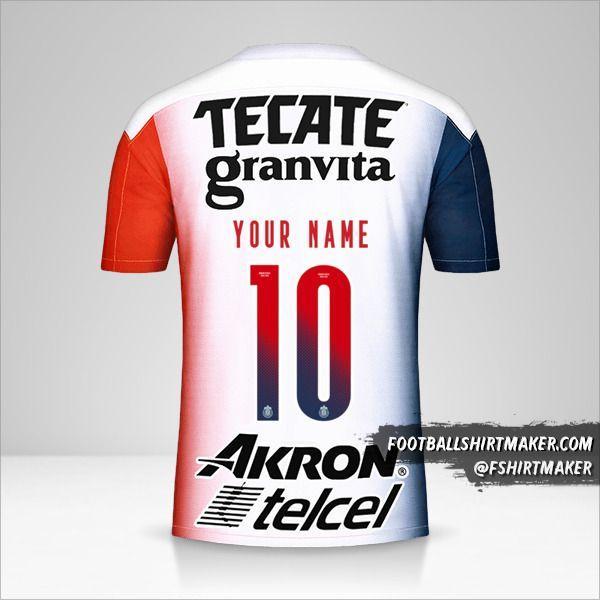 Guadalajara 2020/21 II jersey number 10 your name