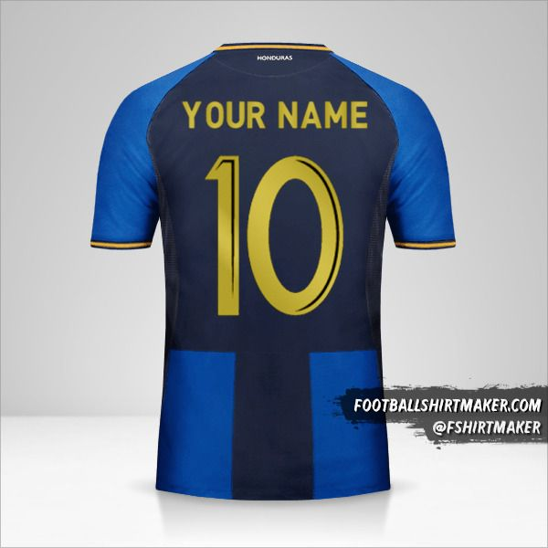 Honduras 2016/17 III jersey number 10 your name