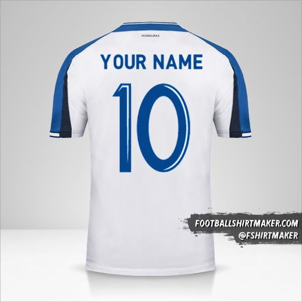 Honduras jersey 2016/17 number 10 your name