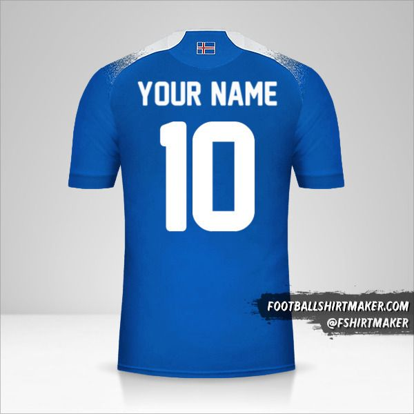 Iceland 2018 jersey number 10 your name