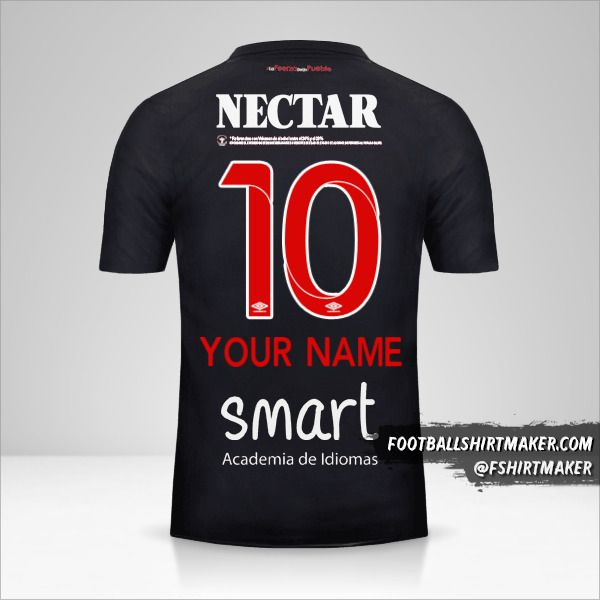 Independiente Santa Fe 2018 III jersey number 10 your name