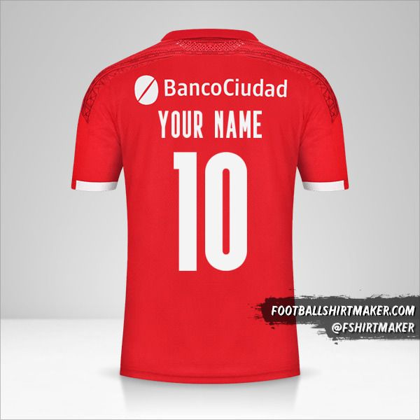 Independiente 2021 jersey number 10 your name