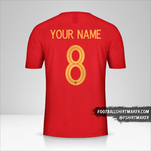 Indonesia jersey 2018 number 8 your name