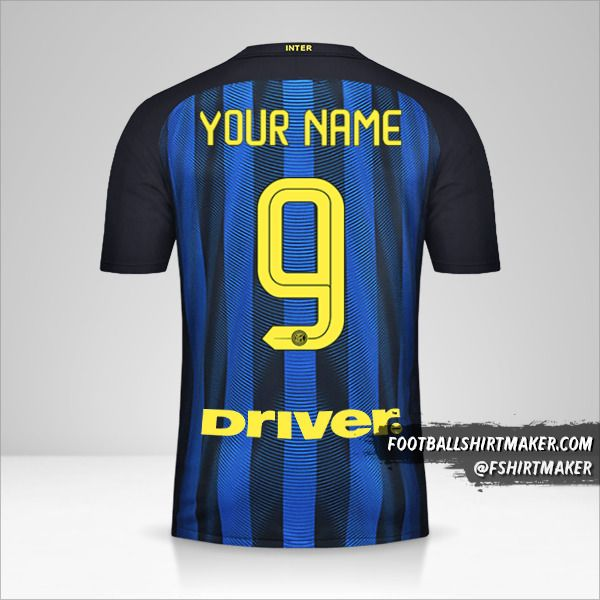 Inter 2016/17 jersey number 9 your name
