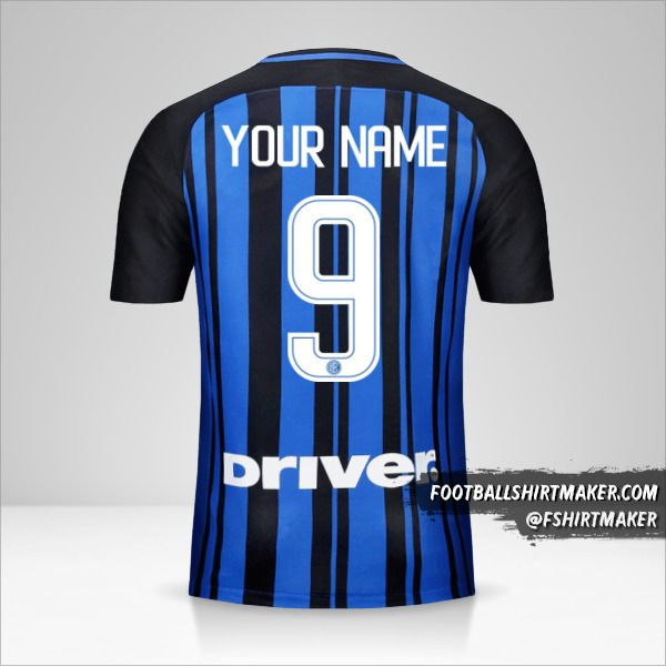 Inter 2017/18 jersey number 9 your name