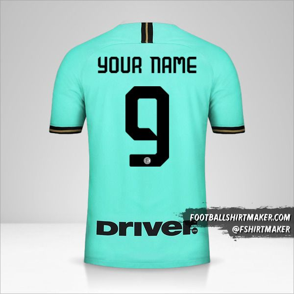 Inter 2019/20 II jersey number 9 your name