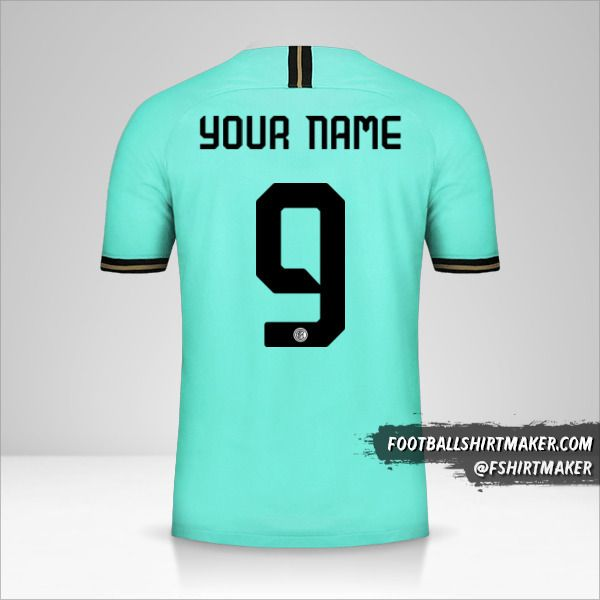 Inter 2019/20 Cup II jersey number 9 your name