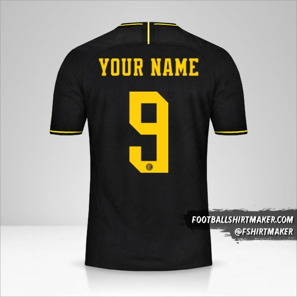 Inter 2019/20 Cup III jersey number 9 your name